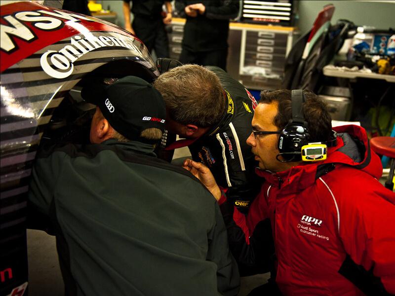 Grant Batten works alongside APR mechanics